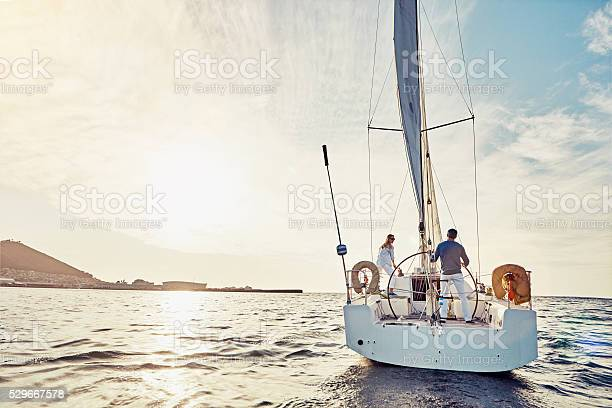 Taking An Adventurous Boat Cruise Stock Photo - Download Image Now
