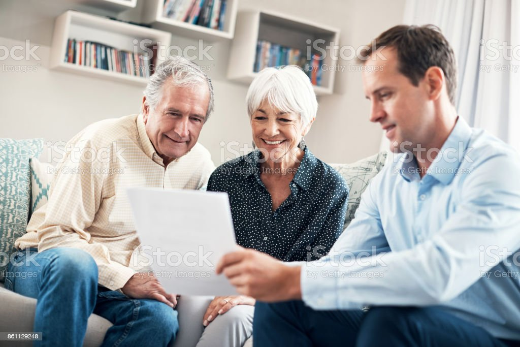 Taking an early retirement plan definitely pays off stock photo