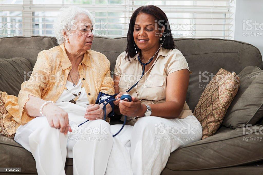 Taking blood pressure royalty-free stock photo