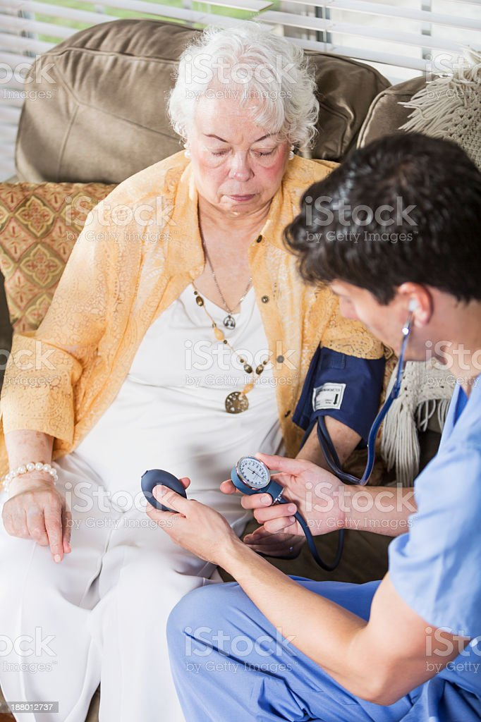 Taking blood pressure royalty-free stock photo