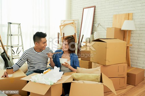 istock Taking Break from Packing Stuff 818705502