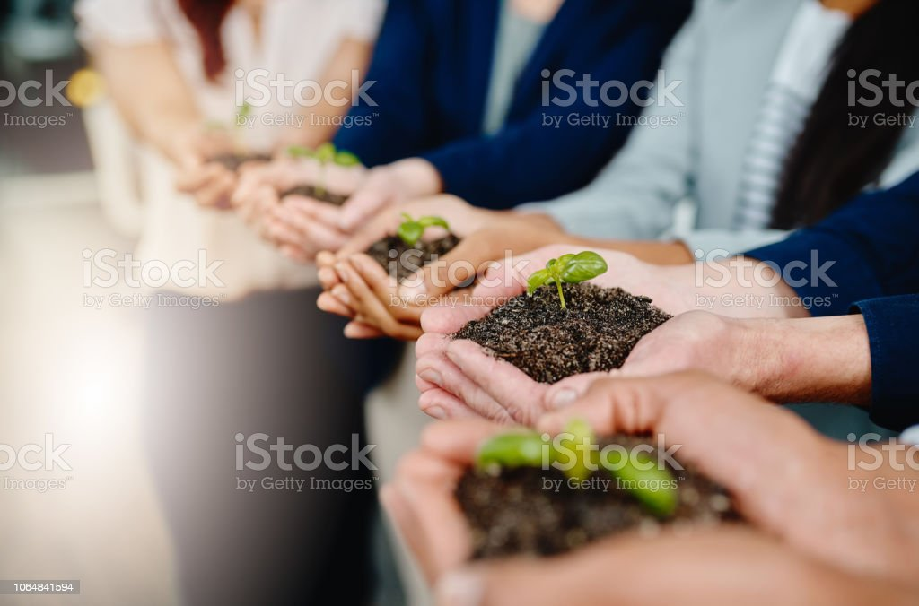 Taking business from the ground up stock photo