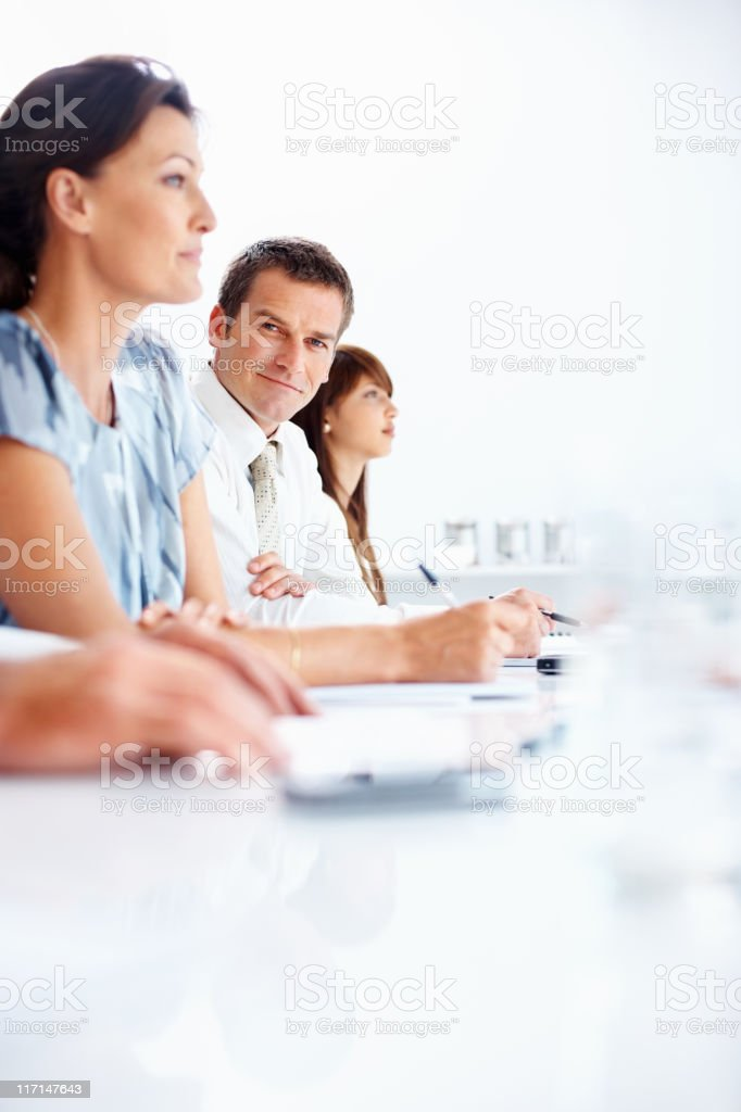 Taking business notes royalty-free stock photo