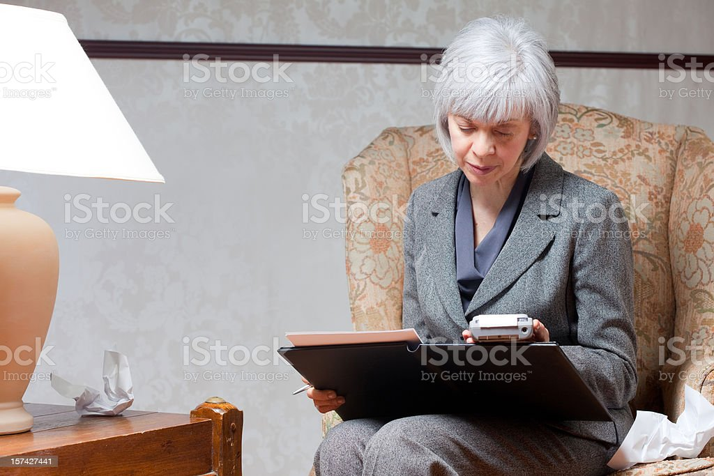 Taking care of Business royalty-free stock photo