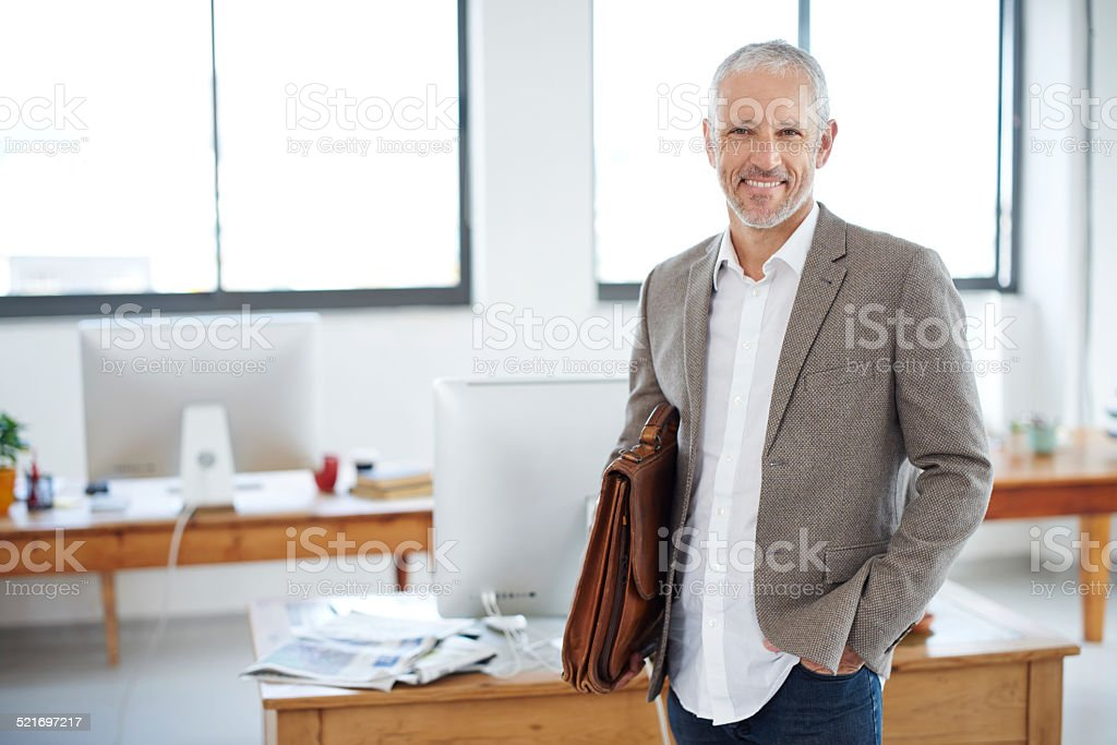 Taking Care Of Business With A Smile Stock Photo ...