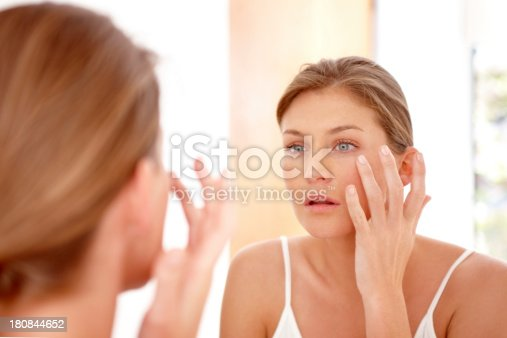 istock Taking care of her skin 180844652