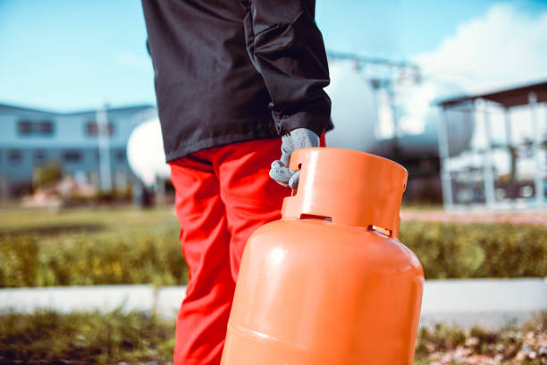 Taking Care Of Liquified Gas Takes Courage And Responsibility stock photo