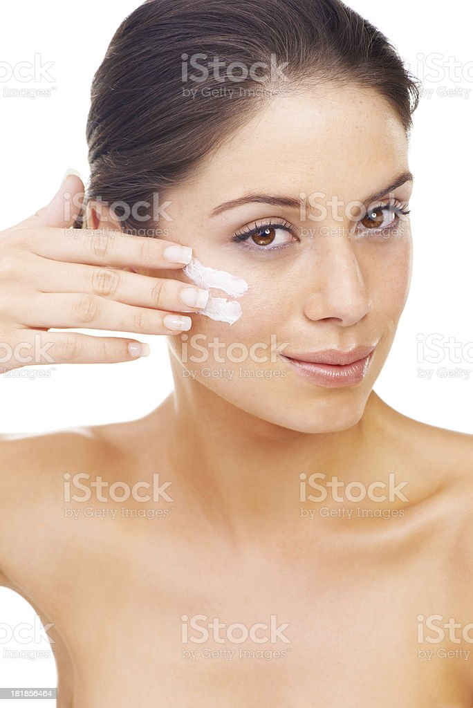 Taking care of those wrinkles before they appear! royalty-free stock photo
