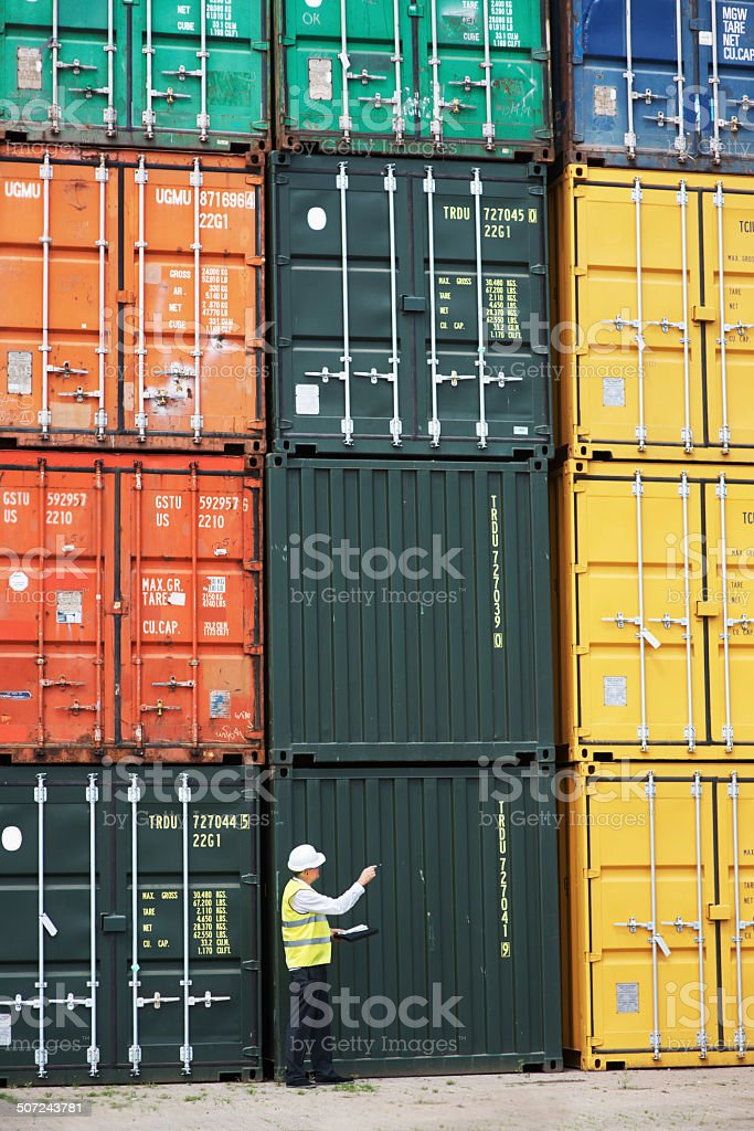 Taking customs work seriously stock photo