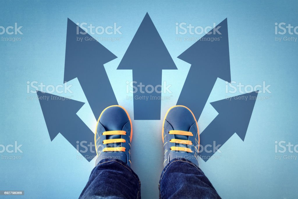 Taking decisions for the future stock photo