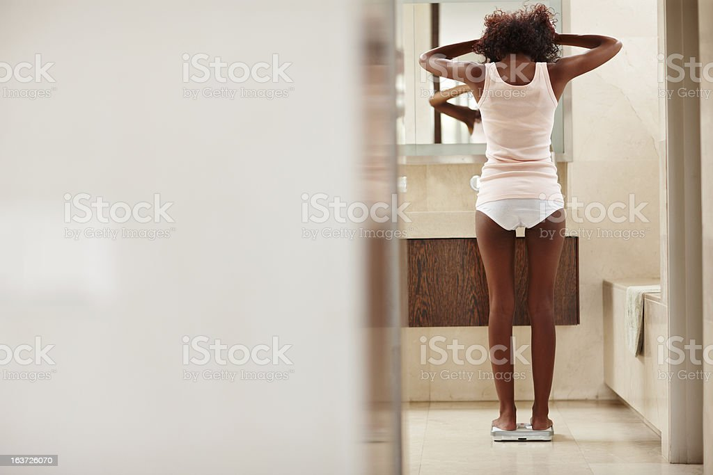 Taking dieting too far- Eating Disorders stock photo