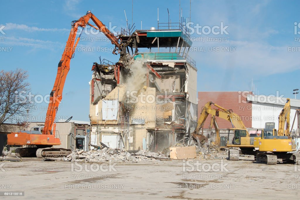 Taking Down the Tower stock photo