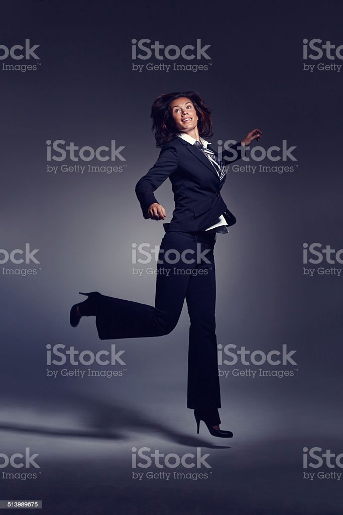 Taking everything in her stride stock photo