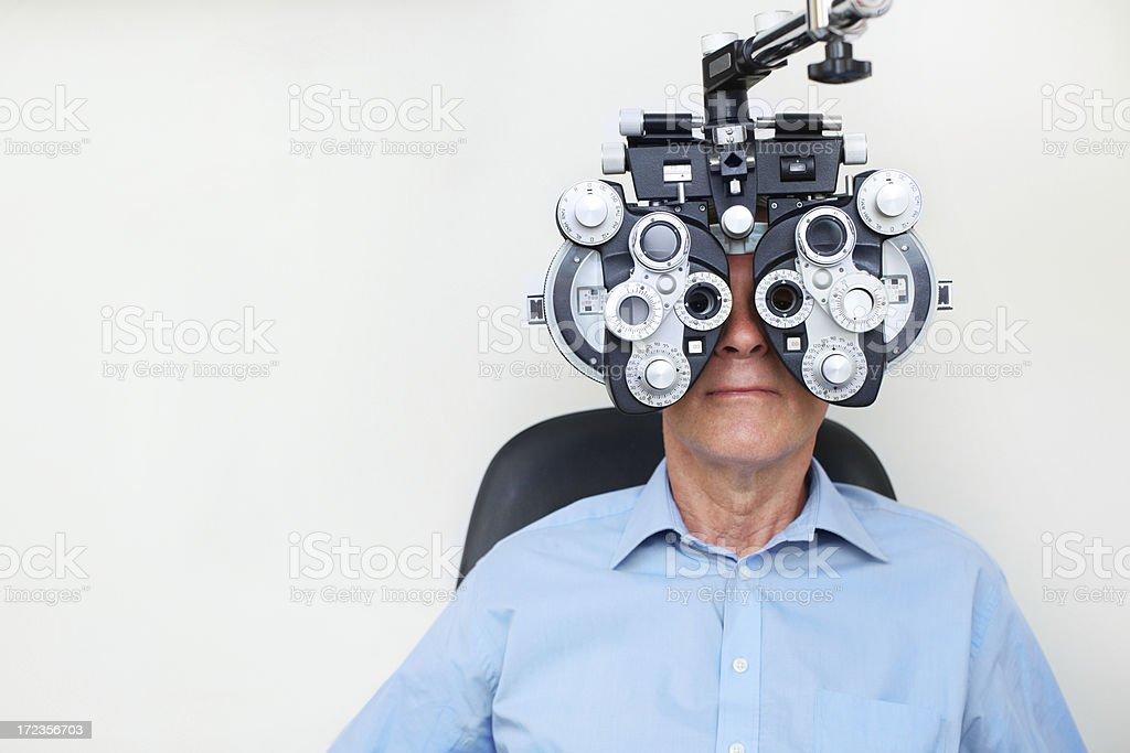 Taking eyecare seriously royalty-free stock photo