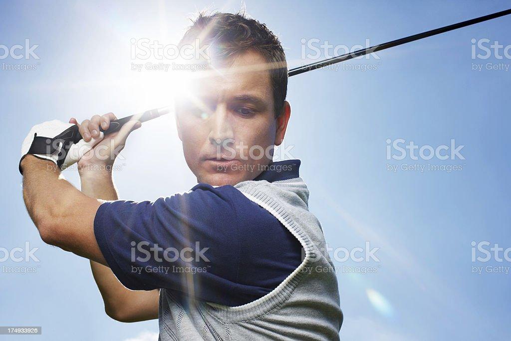 Taking golfing seriously royalty-free stock photo