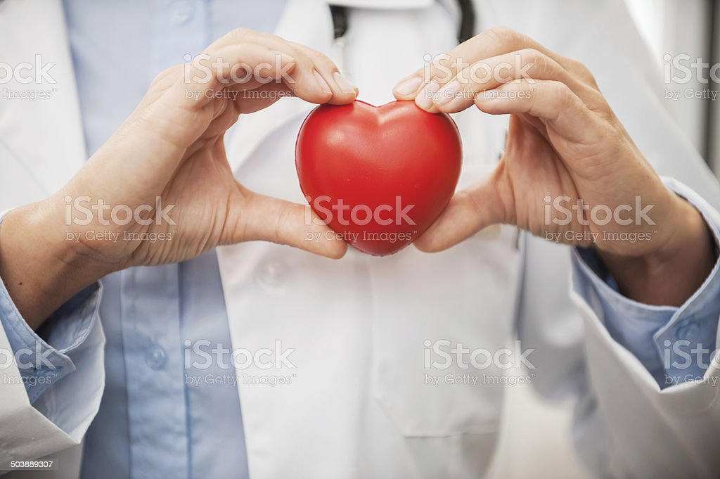 Taking good care of your heart. stock photo
