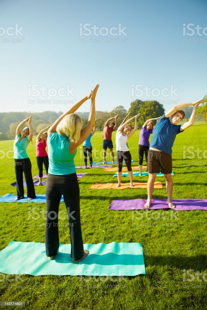 Taking health in the right direction  - Yoga royalty-free stock photo