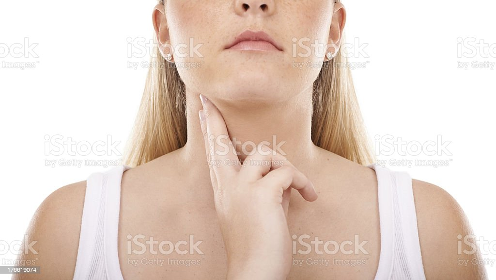 Taking her heart rate seriously royalty-free stock photo