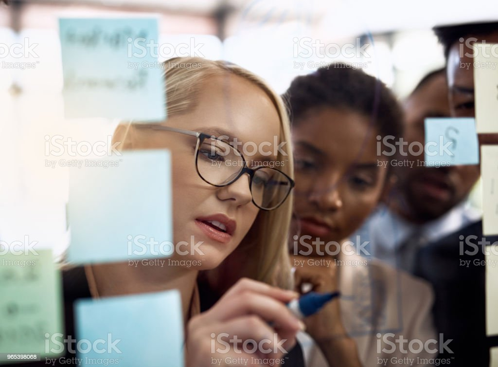 Taking her team to the next level royalty-free stock photo