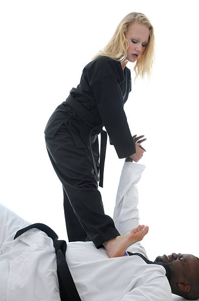 taking him down - martial arts gerville stock photos and pictures