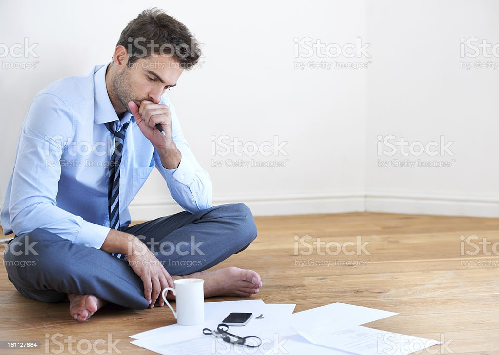 Taking his work home royalty-free stock photo