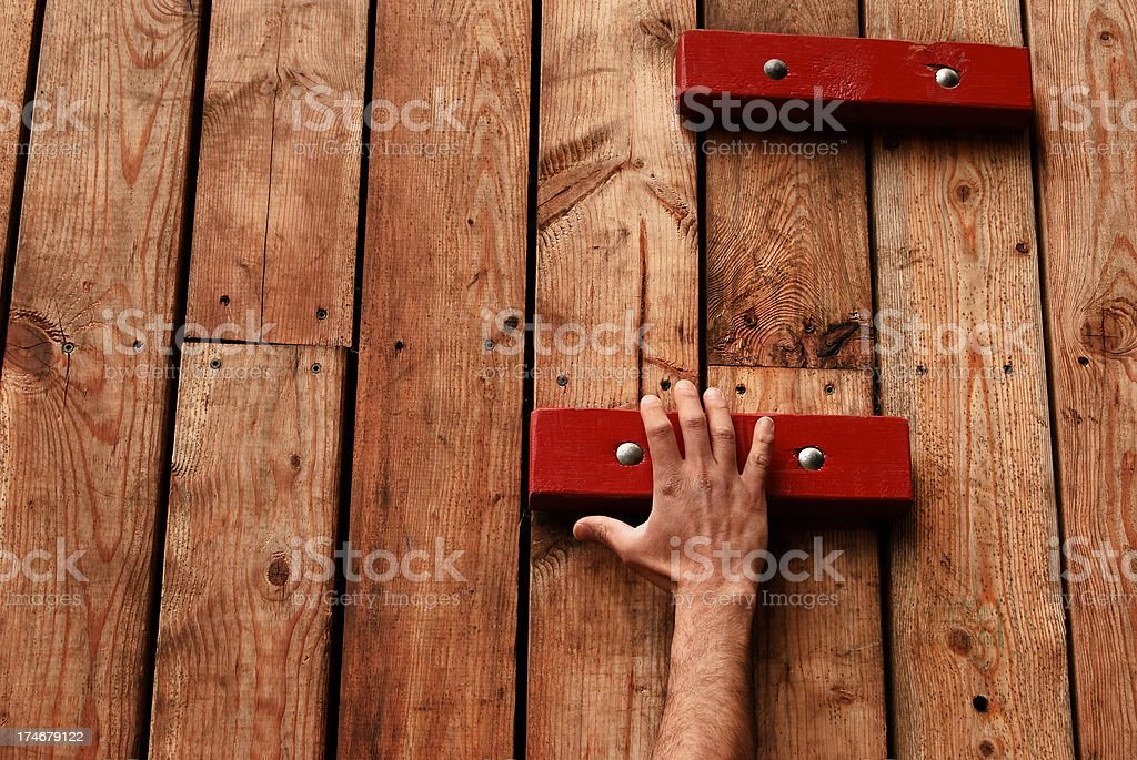 Taking Hold royalty-free stock photo
