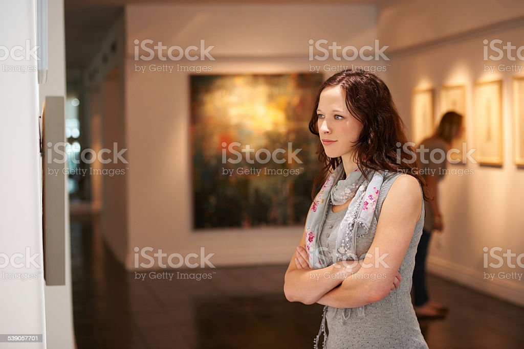 Taking in a century of art stock photo