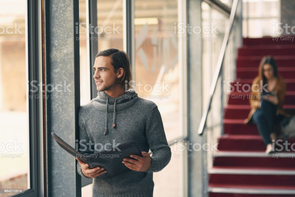 Taking in all the information royalty-free stock photo