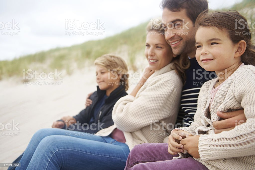 Taking in the beach views royalty-free stock photo