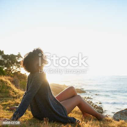 Full length shot of an attractive young woman relaxing outdoors with a view of the oceanhttp://195.154.178.81/DATA/i_collage/pu/shoots/785271.jpg