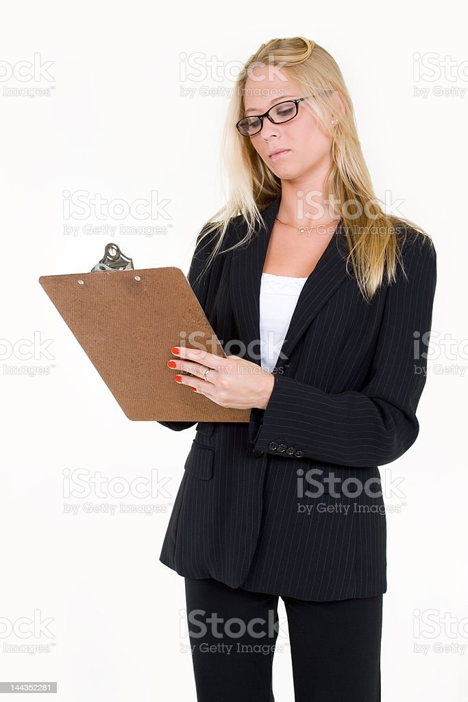 Taking inventory royalty-free stock photo