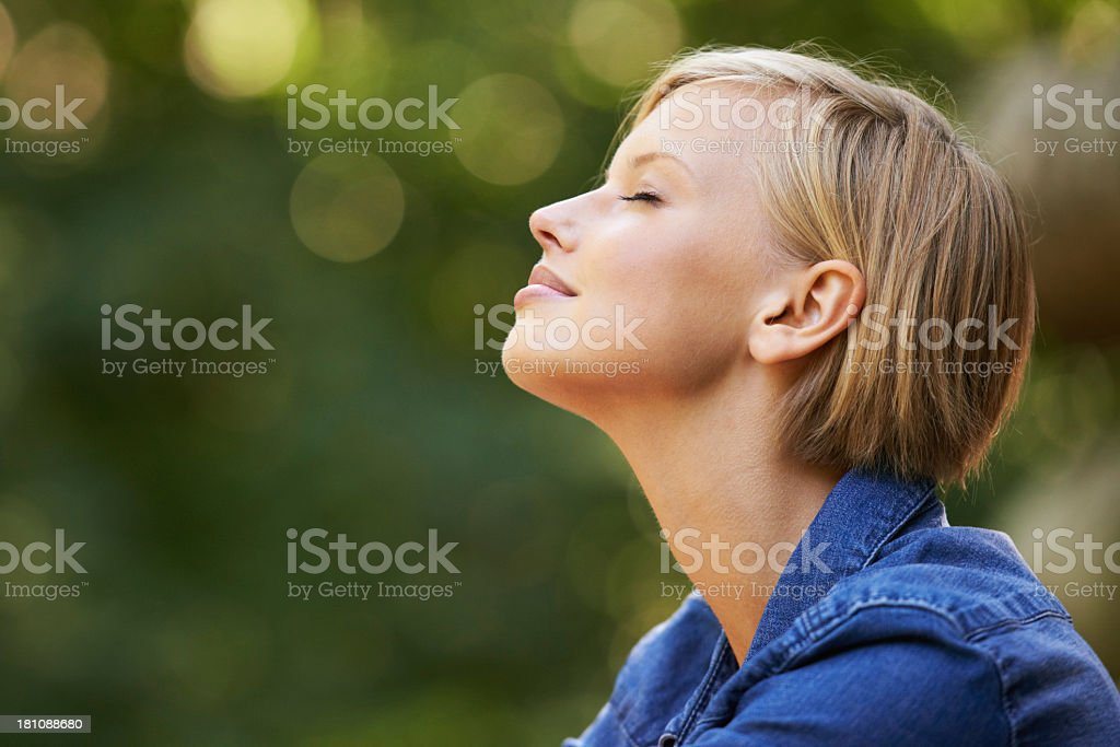 Taking it all in stock photo
