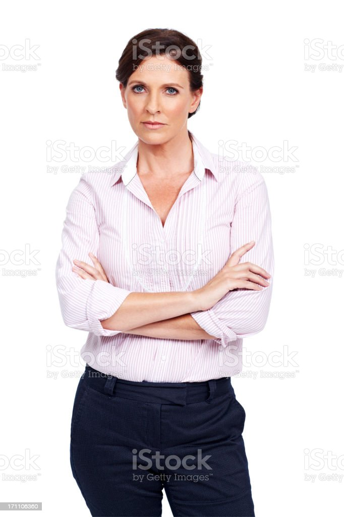 Taking life and business seriously royalty-free stock photo