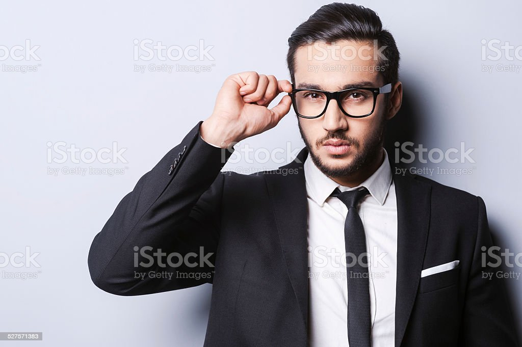 Taking life seriously. stock photo