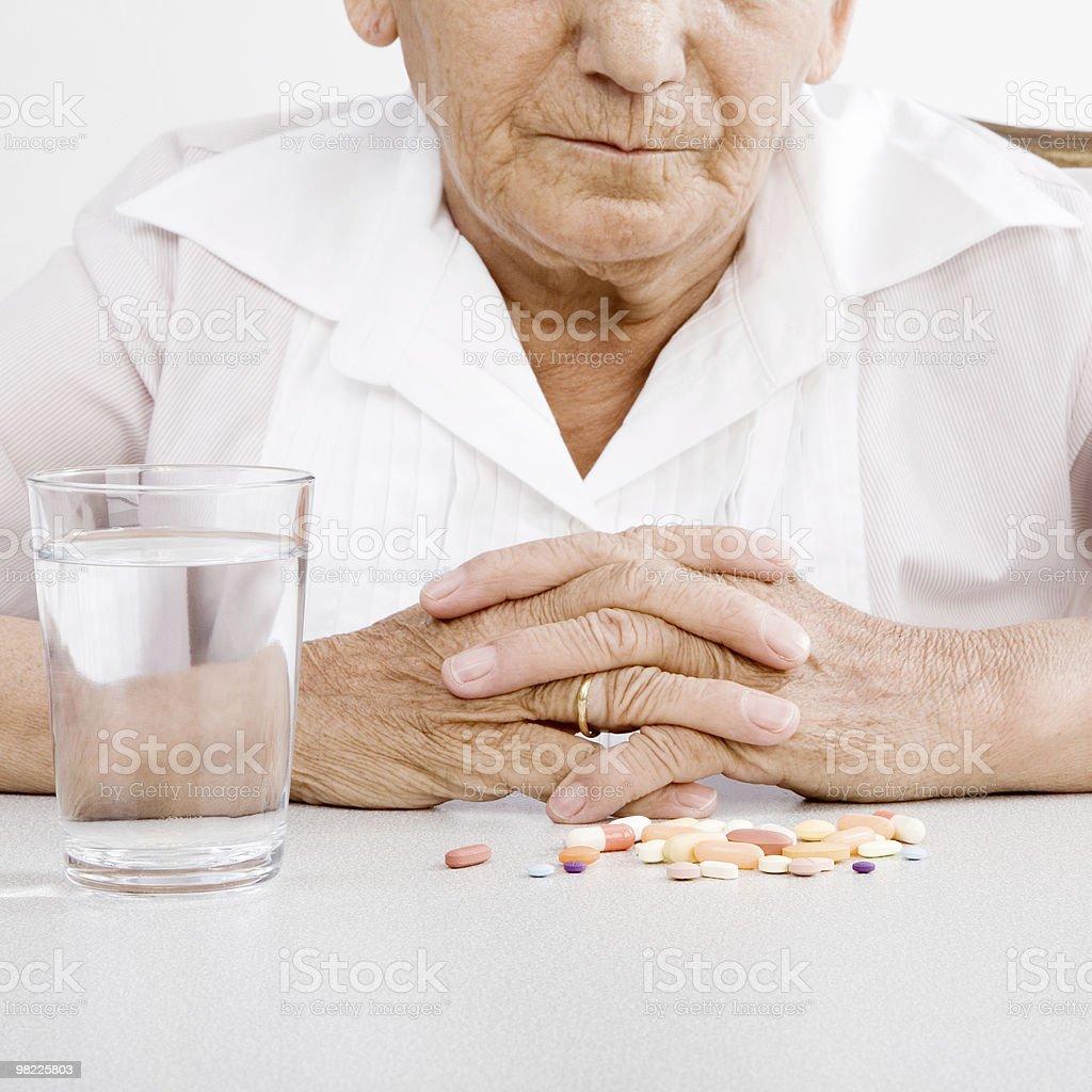 Taking Medicine royalty-free stock photo