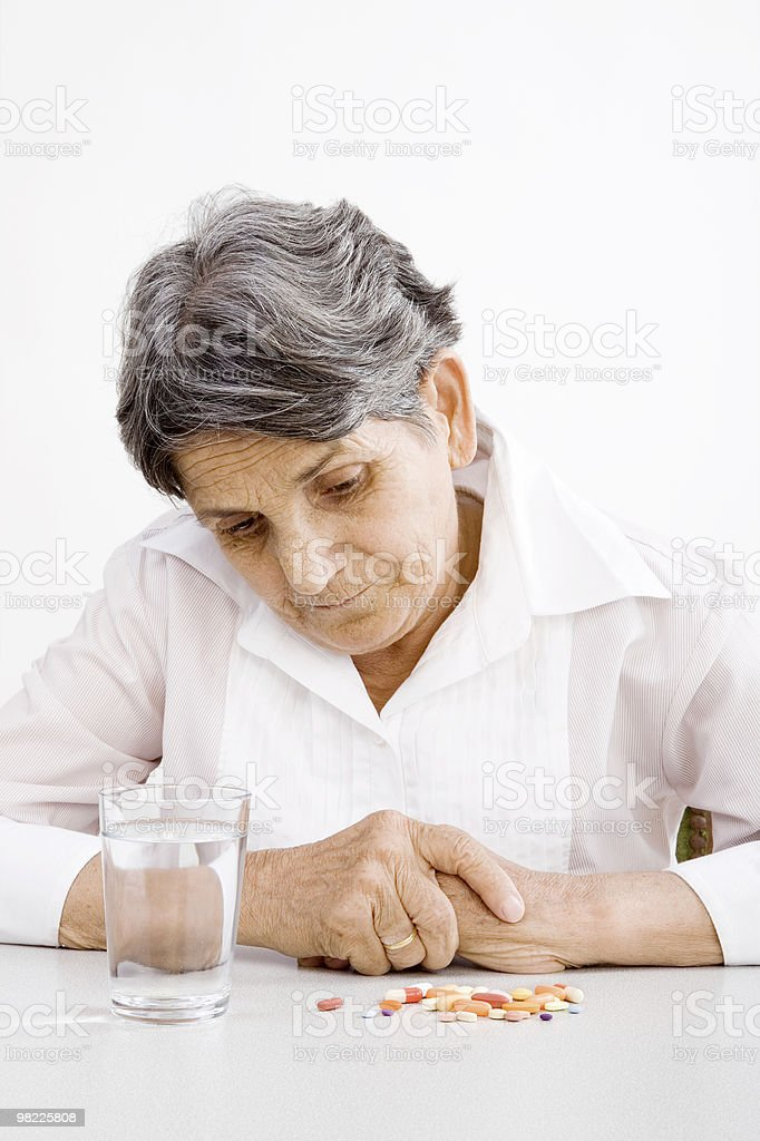 Taking Medicine royalty-free stock photo