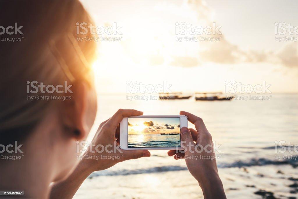 Taking Memories From Zanzibar - foto stock