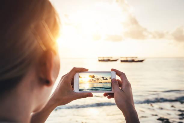 Taking Memories From Zanzibar stock photo