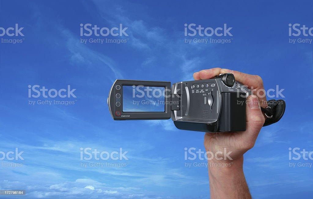 Taking Movie with Digital Camera stock photo