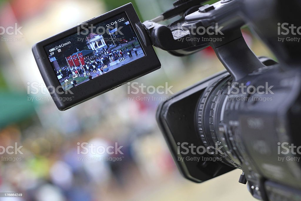 Taking Movie with Professional Camera stock photo