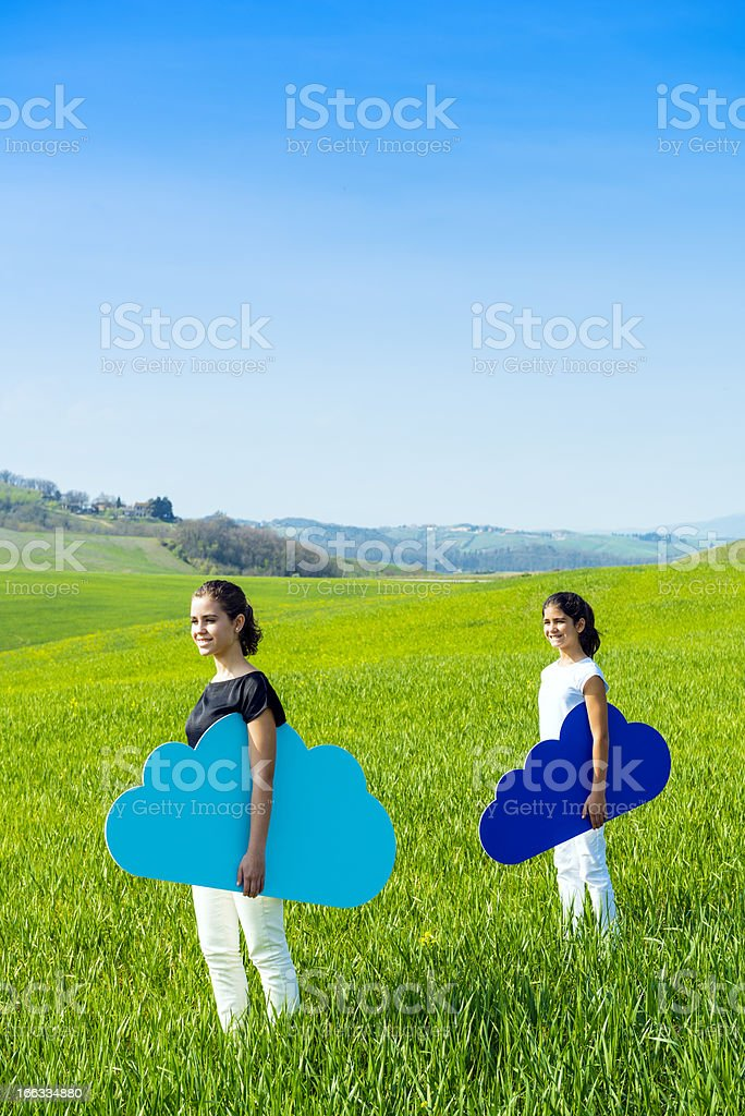 Taking my cloud everywhere royalty-free stock photo