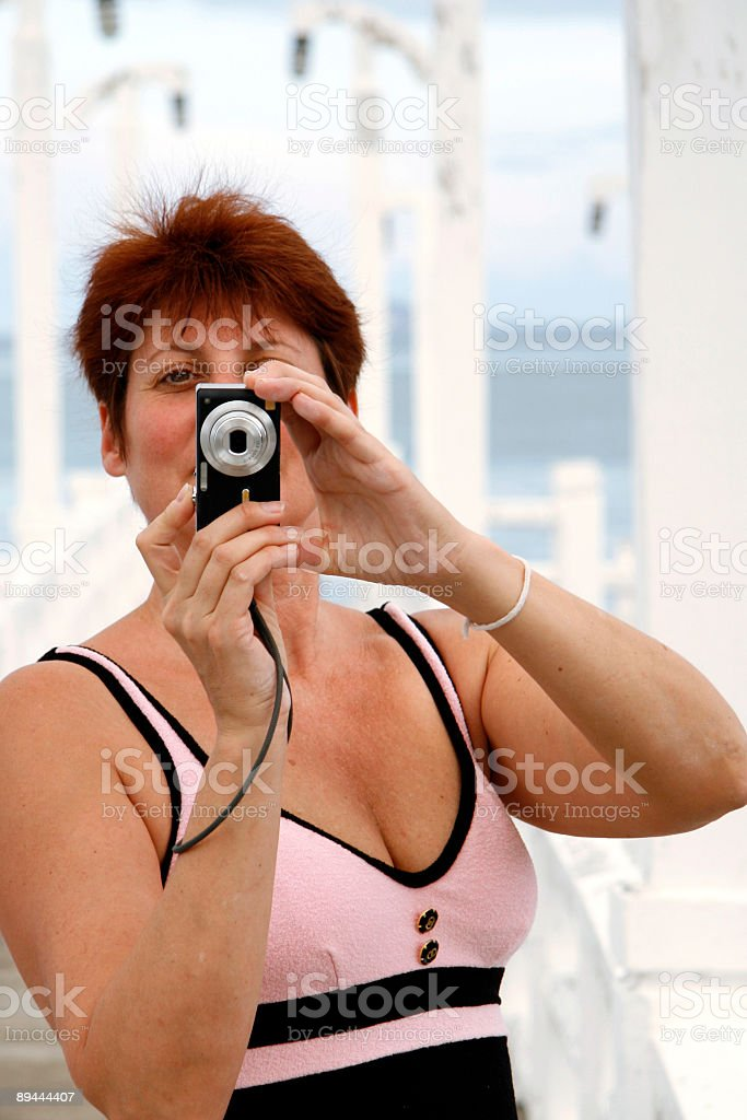 Taking my picture royalty-free stock photo
