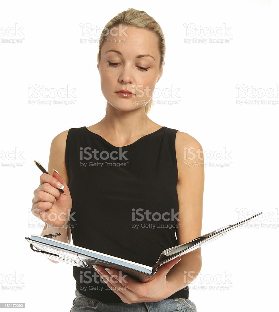 Taking Notes - book royalty-free stock photo