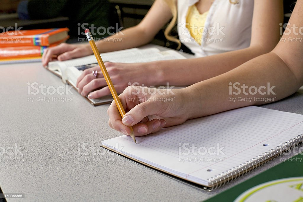Taking Notes In Class royalty-free stock photo