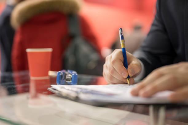 Notizen zu einem Treffen – Foto