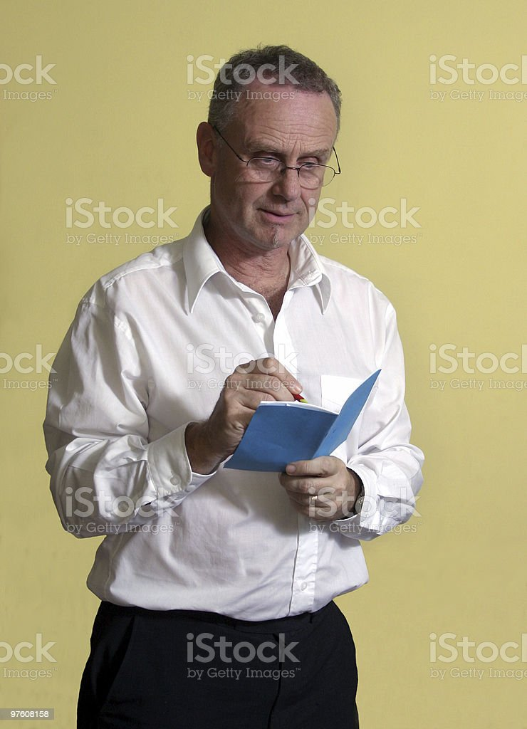 Taking notes royalty-free stock photo