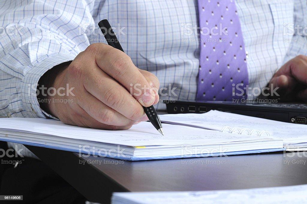 Taking notes royalty-free stock photo