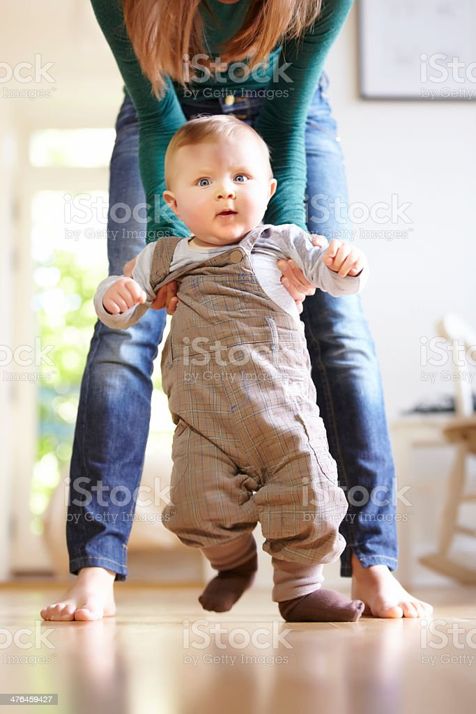 Taking one step at a time royalty-free stock photo