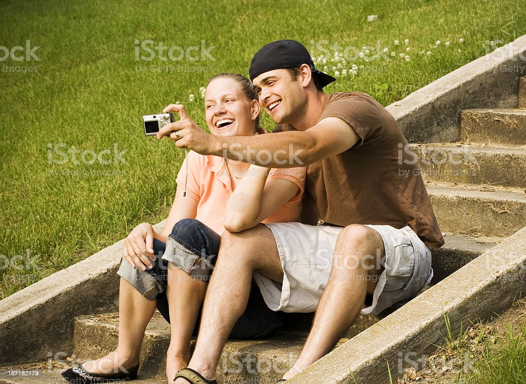 Taking our Picture royalty-free stock photo
