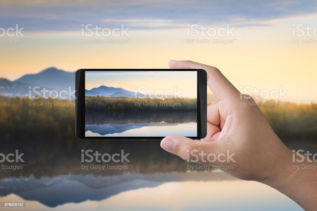 taking photo with mobile stock photo